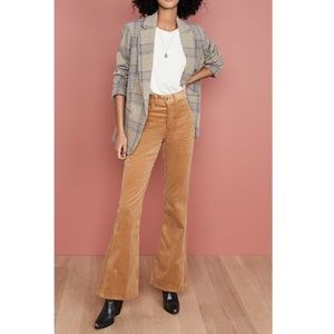 RE/DONE 70s high rise corduroy flare pants